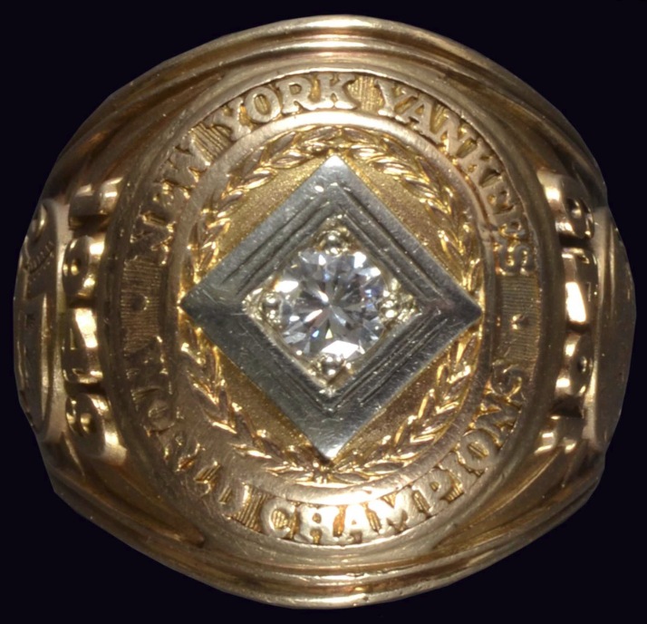 Cliff Mapes' 1949 New York Yankees World Series Ring Auctioned for $33,000