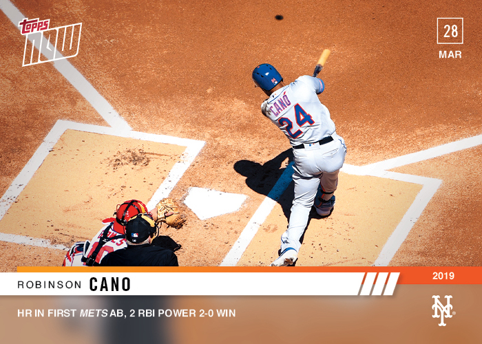 Cano, Alonso Mets Debuts Gain Topps NOW Cards