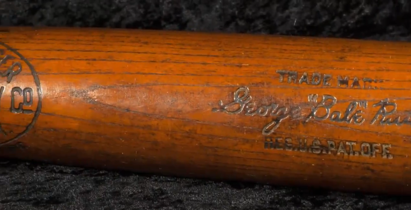 Ruth 500th Home Run Bat Exceeds $1 Million In Auction