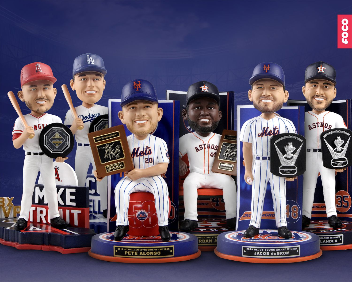 FOCO Unveils New 2019 MLB Awards Winners Bobbleheads